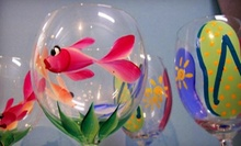 BYOB Wineglass-Painting Session for Two or Pottery-Painting Session at Art-Sea Living (Up to Half Off)
