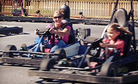 Go-Karts with Optional Rounds of Mini Golf at The Go-Kart Track (Up to 60% Off). Four Options Available.
