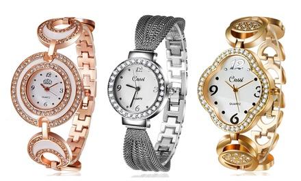 Relógio Cussi de mulher modelo Katrina, Dream ou Clover por 14,99 € (86% de desconto) com envio gratuito