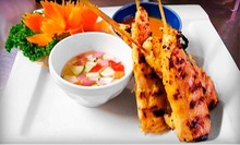 Thai Cuisine at Bamboo Thai Restaurant (Up to 52% Off). Two Options Available.