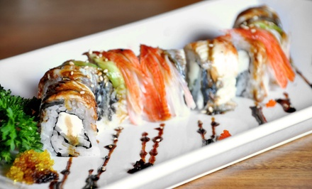 Seafood and Sushi at Carmine's Original Ocean Grill & Sushi Bar (Up to 51% Off). Two Options Available.