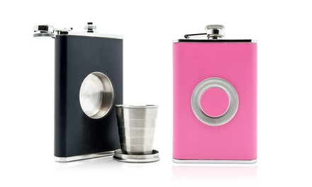 Shot Flask with Collapsible Shot Glass