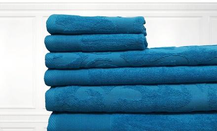 100% Egyptian Jacquard 600 GSM 6-Piece Towel Set