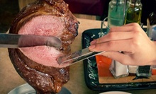 $49 for a Brazilian Meal for Two with a Bottle of Wine at Red & Green Brazilian Steakhouse (Up to $99.89 Value)