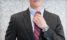 Four Custom Shirts, or One Custom Two-Piece Suit with Shirt and Tie at Bunbury Custom Clothiers (Up to 65% Off)