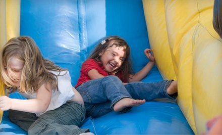 One or Three Open-Bounce Visits or a Cosmic Bounce Party for Up to 25 Children from BounceU (Up to 56% Off)