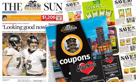 $10 for a One-Year Weekend Subscription, plus Digital Edition to The Baltimore Sun ($234 Value)