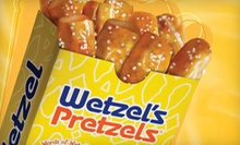 $4 for $8 Worth of Freshly Baked Pretzels at Wetzels Pretzels