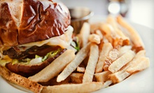 Burgers and Drinks at Pounders Burger Bar & Beverages (Half Off). Two Options Available.