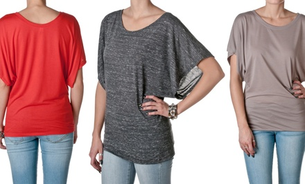 Bella Flowy Draped Dolman Sleeve Top