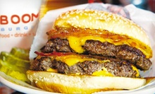 Burgers, Fries, Cupcakes, and Drinks for Two or Four at ((BOOM)) Burger (Up to 51% Off)