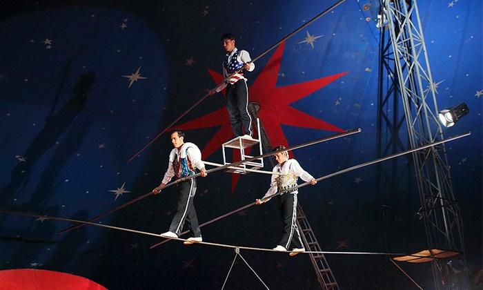 Santus Circus - Maidstone: Santus Circus Trapeze Show: Front Tier Ticket for £7 at Notcutts Maidstone (50% Off)