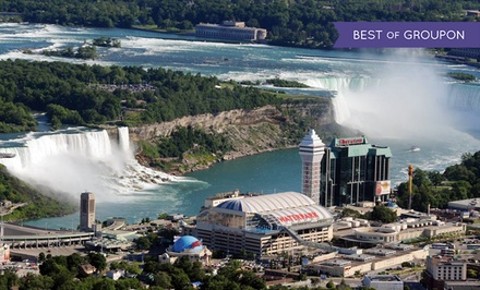 groupon daily deal - Stay with Wine Package at Sheraton On The Falls in Niagara Falls, ON. Dates into May.