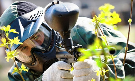 Paintball Packages with Admission, Equipment, and 100 Paintballs Apiece for Four or Six at Sniper Paintball (67% Off)
