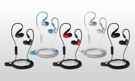 Ziva-Indulge Dual Dynamic Driver Detachable Cable Musician's In-Ear Monitors