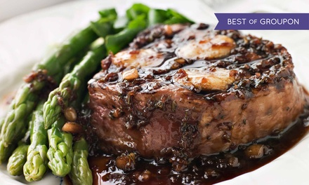 American Dinner for Two or Four with Appetizers, Entrees, and Drinks at Thomas Restaurant (Up to 46% Off)