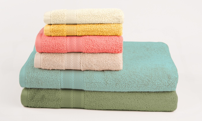 6 Piece Luxury 100 Egyptian Cotton Towel Set Deal Of The