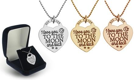 Colar Heart Padlock em prata de lei por 15,99€ ou dois por 26,99€