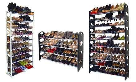 20-, 40-, or 50-Pair Shoe Rack