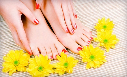 One or Two Mani-Pedis at Preet Hair, Nail and Beauty Salon (Up to 51% Off)
