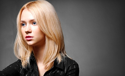 Haircut and Style with Option of Single Process Color or Partial or Full Highlights at Envy Salon & Spa (Up to 54% Off)