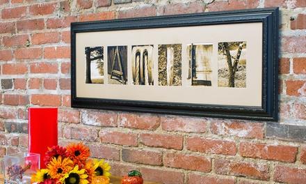 $59 for $135 Worth of Custom Letter Art from Frame the Alphabet