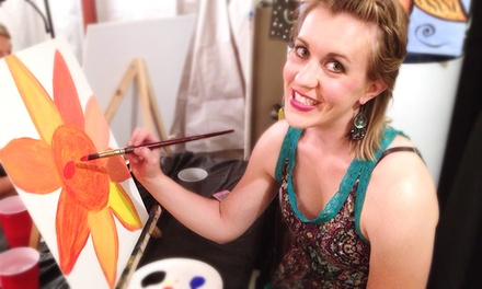BYOB Painting Class for One or Two at The Mona Lisa Fine Arts Studio (Up to 46% Off)