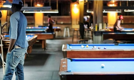 Two Hours of Pool for Two or Four with Pub Food and Drinks at Raxx Pool Room, Sports Bar & Grill (Up to 57% Off)