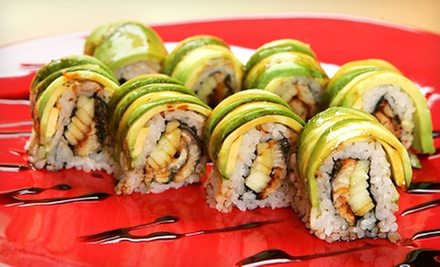 Sushi and Japanese Food at Zushi Restaurant (Half Off). Two Options Available.