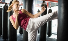 Cardio Kickboxing or Martial Arts Classes at Studio Kicks Training Center (Up to 82% Off). Three Options Available.