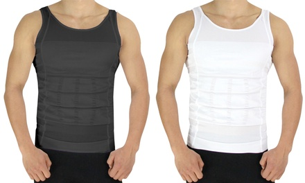 2-Pack of Men's Compression and Body-Support Undershirts