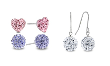 3-Pair Earring Set Made with Swarovski Elements