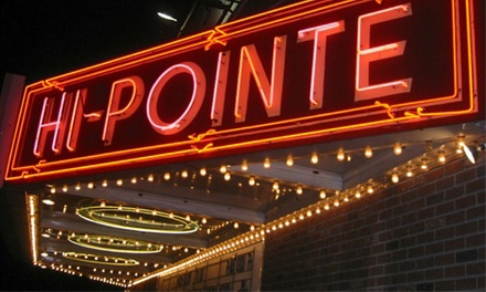 Movie and Concessions Credit for Two or Four at Hi-Pointe Theatre (Up to 39% Off)