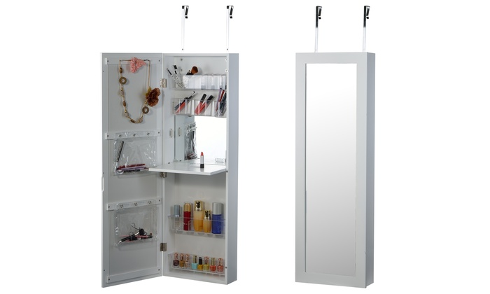 mirror doors cabinet the armoire and door makeup carolina wayfair keyword with jewelry over