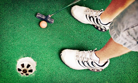 Mini Golf for Four or Eight with Beverages and Large Pizzas at GolfZone (Up to 54% Off)