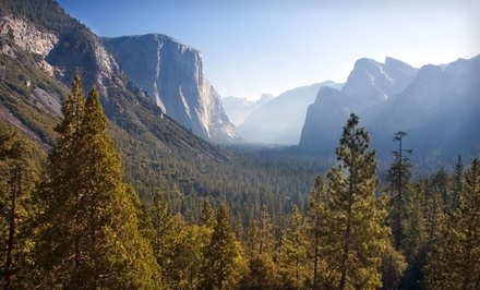 groupon daily deal - 2-Night Cabin Stay for Two, Four, Five, or Up to Eight at Yosemite Pines near Yosemite National Park.