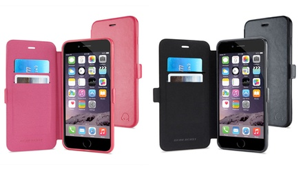 Gear Beast GearFolio Polyurethane Leather Folio with Screen Protector for iPhone 6/6 Plus