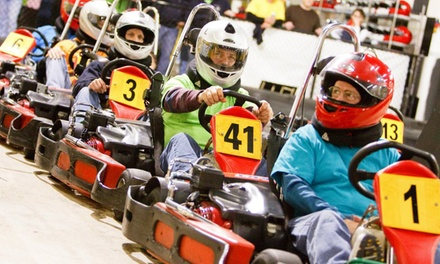 Two or Three Adult or Junior Go-Kart Races or Three Laser Tag Games at G-Force Karts (Up to 58% Off)