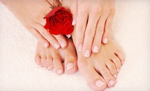 One or Two Spa Mani-Pedis at Urban Edge Hair Studio (Up to 54% Off)