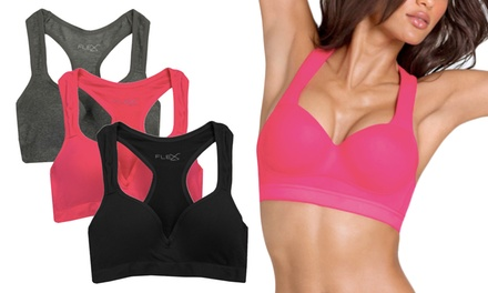 3-Pack of Women's Racerback Padded Shaping Sports Bras