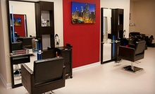 Haircut and Style with Optional Partial or Full Highlights at HairCut-City (Up to 53% Off)