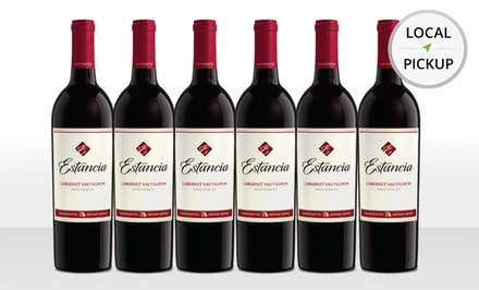 6 Bottles of Estancia Cabernet Sauvignon 2011. Pick Up in Store at Hinsdale Wine Shop.