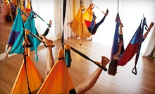 5 or 10 Aerial-Yoga Classes at Epídavros Center for Wellbeing (Up to 61% Off)