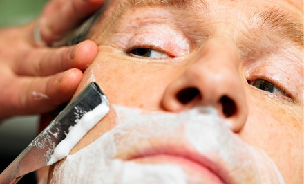 Signature Hot-Towel Shave, Haircut, or Both at eShave (Up to 46% Off)