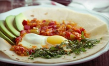 $10 for Mexican Breakfast Food for Two with Coffee at Hogan's Alley Cafe (Up to $23.20 Value)