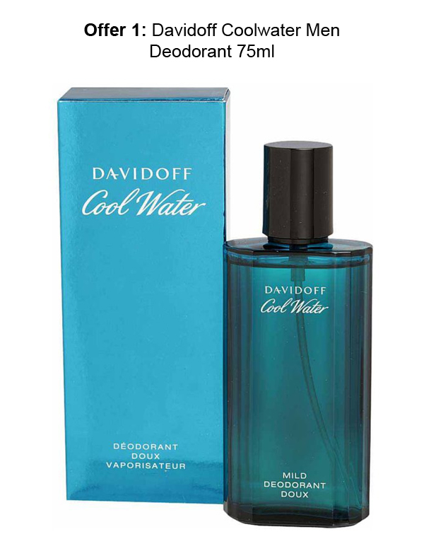 75 Ml Davidoff Coolwater Deos at Rs 875 from Groupon