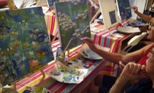 BYOB Art Class for One or Two at Happymess Art Studio (Up to 59% Off)
