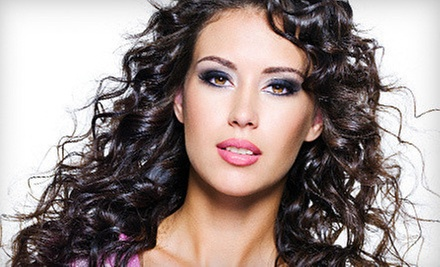 Haircut, Conditioning, and Style with Option for Partial or Full Highlights at Vanity Salon (Up to 72% Off)