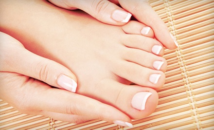 One Basic Manicure with Basic or Spa Pedicure at Latika Spa (Up to 56% Off) 