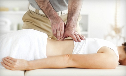 Chiropractic Package with Massage, Evaluation, and One or Three Adjustments at Quantum Vitality Centres (Up to 71% Off)